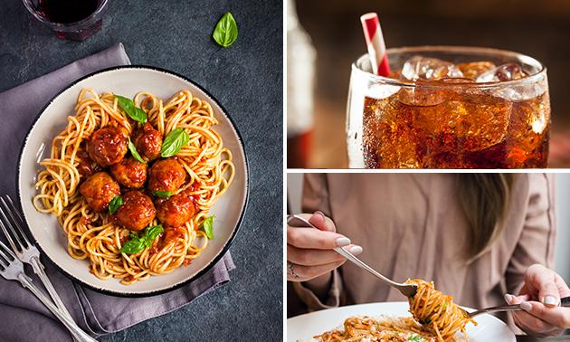 Afhalen: pasta naar keuze + blikje fris