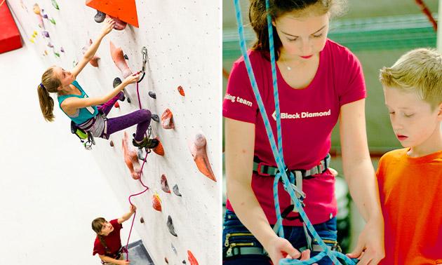 Gehele dag vrij klimmen of 1,5 uur met instructeur