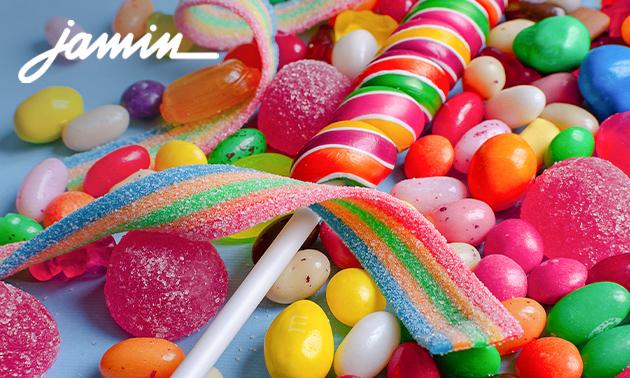 Afhalen: candy bucket (750 gram) bij Jamin