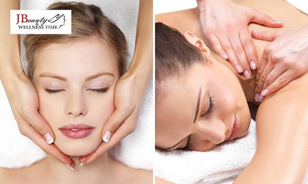 Gesichtsbehandlung + optional Rückenmassage