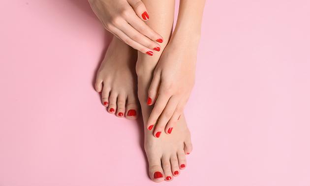 Gellakbehandeling voor handen en/of voeten