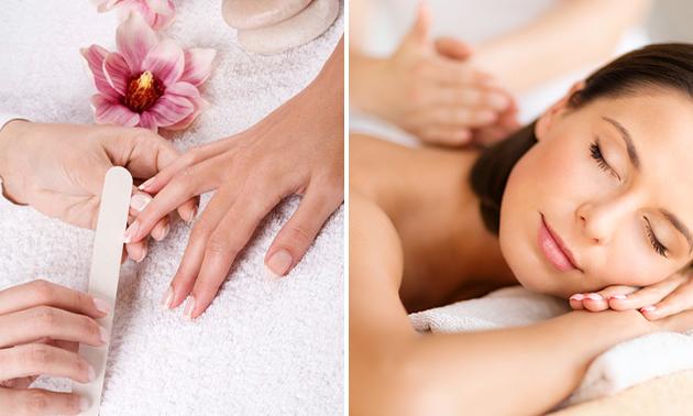 Gellak + mini-manicurebehandeling óf luxe massage