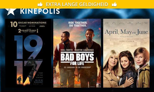 Bioscoopkaartje voor Kinepolis Den Bosch