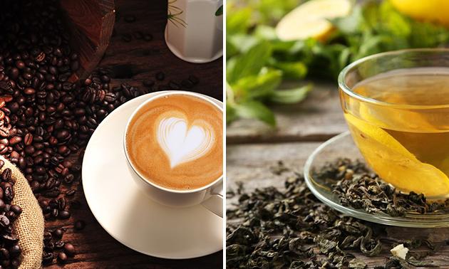 Waardebon voor koffie en thee