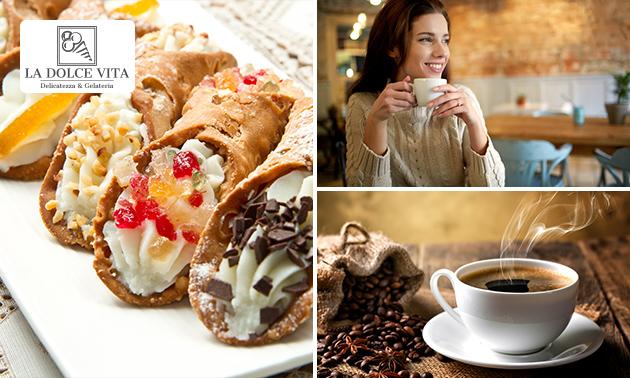 Afhalen: koffie naar keuze + lekkernij