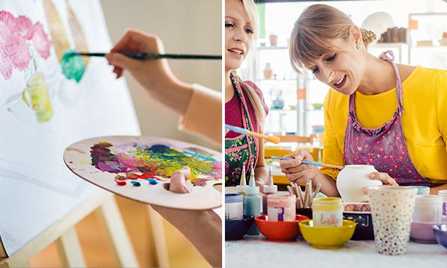 Workshop schilderen (3 uur) + koffie/thee en lekkers