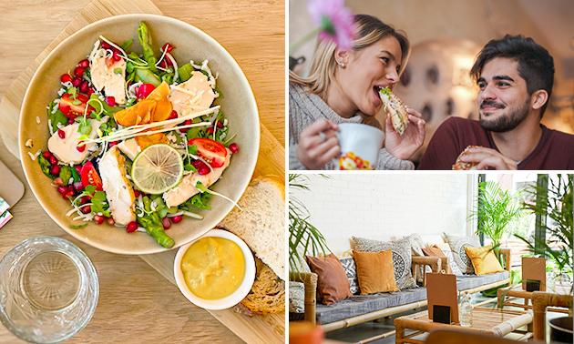 Luxe lunch + koffie/thee + jus bij Lazy Lemon