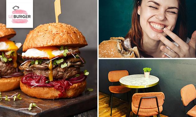 Dubbele burger + friet in hartje Heerlen