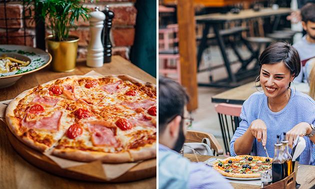 Frische Pizza nach Wahl + Salat