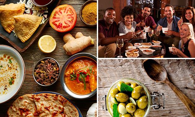 11 Orientalische Mezes + Dessert