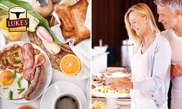 Frühstücksbuffet + 2 Kaffeespezialitäten + Glas Sekt