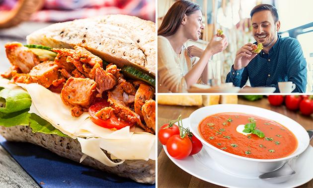 2-gangen keuzelunch bij LunchTime bij Mirte