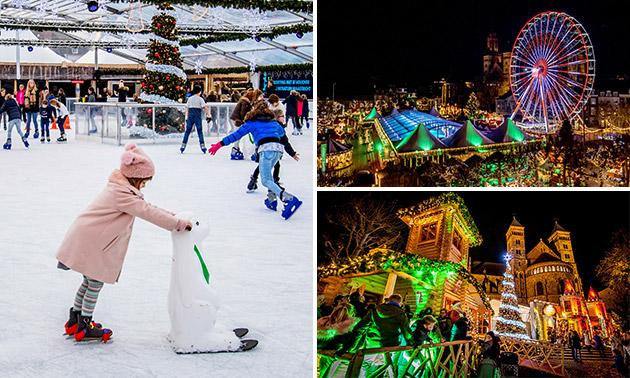 Eislaufen + Getränke + Riesenrad bei Magisch Maastricht