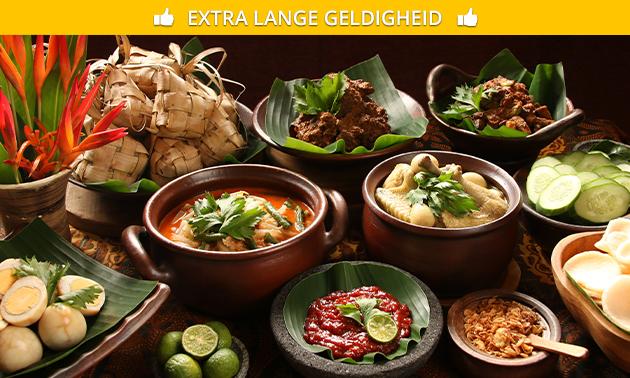 Afhalen of thuisbezorgd: Indonesische rijsttafel bij Maxima's