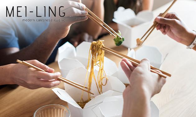 Afhalen: Chinees menu voor 2 personen van Mei Ling