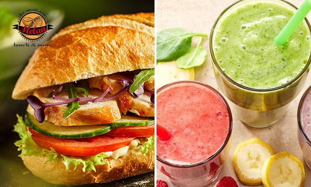 Afhalen: broodje + smoothie bij Melan Lunch & More