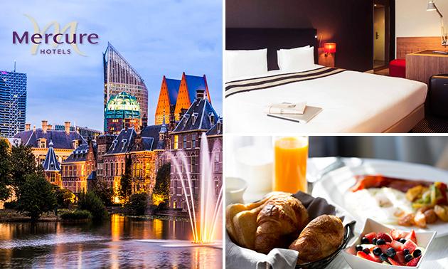 Overnachting voor 2 + drankje + ontbijt in hartje Den Haag