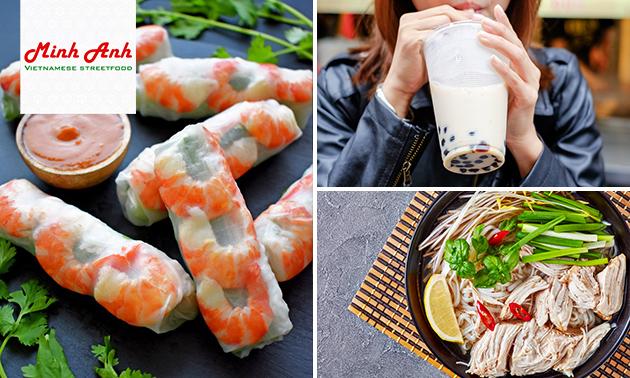 Afhalen: Vietnamese springrolls + Bubble Tea