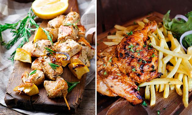 Afhalen: mixed grill of gegrilde kip