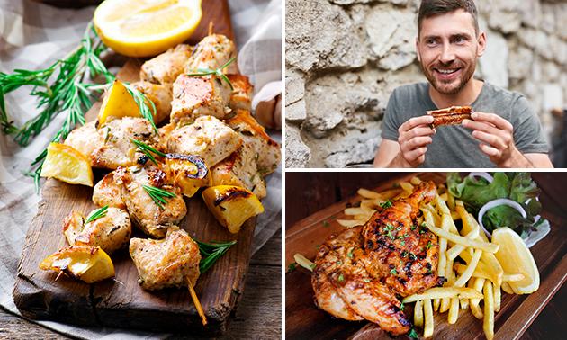 Afhalen: mixed grill, gegrilde kip of spareribs-schotel