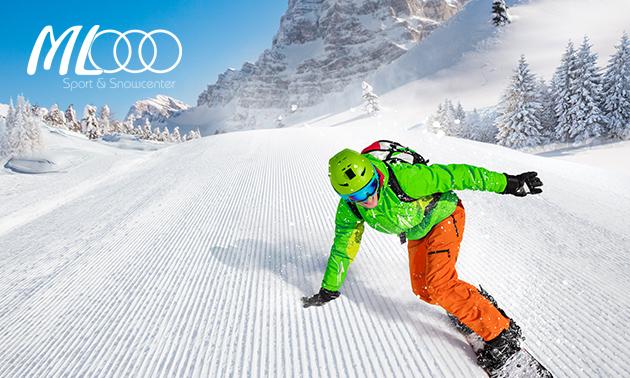 1 uur ski- of snowboardles