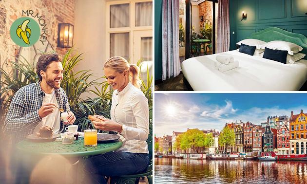 Übernachtung + Frühstück für 2 oder 4 im Herzen von Amsterdam
