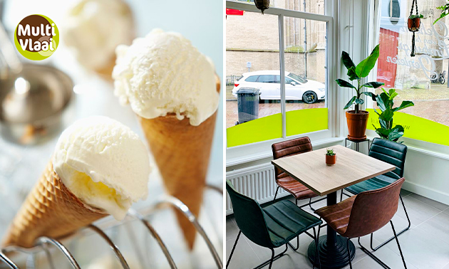 Strippenkaart voor 5 of 10 bollen ijs in hartje Kampen