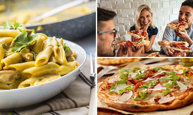 Afhalen: pizza of pasta naar keuze