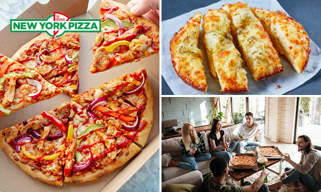 Afhalen: New York Pizza + evt. lavacake of garlic bread