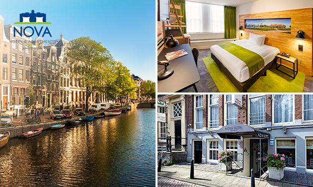 Hotelovernachting + ontbijt voor 2 in hartje Amsterdam
