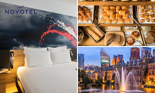 Overnachting voor 2 + diner + ontbijt in hartje Den Haag