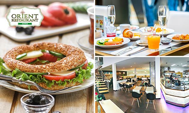 Frühstücksbuffet & Brunch für 2 + Glas Sekt bei Orient