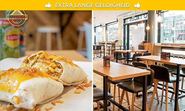 Large taco + drankje bij O'Tacos in hartje Utrecht