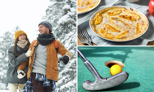 Wandeling of midgetgolf + diner bij De Pimpernel