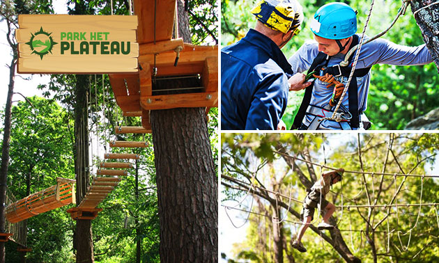 Zugang zum Kletterwald Park het Plateau
