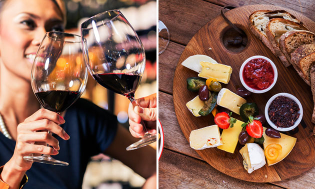 Fles wijn + Spaanse tapas voor 2 bij Park Plaza