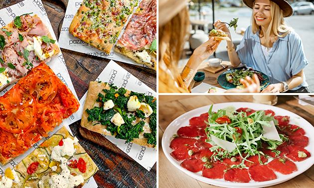 Pizzaproeverij of 3-gangen keuzelunch bij Pazze e Pizze