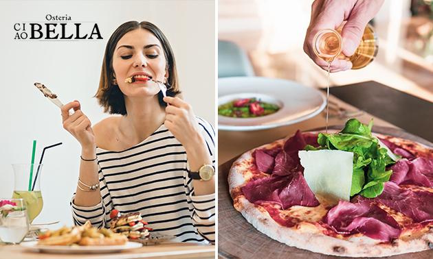 Afhalen: pizza naar keuze + taartje + blikje fris