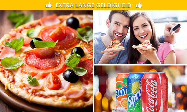 Afhalen: pizza(s) naar keuze + blikje(s) fris