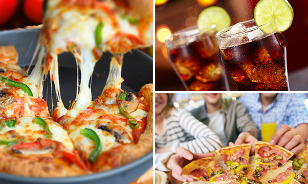 Thuisbezorgd of afhalen: pizza + drankje