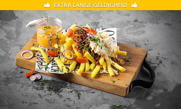 Afhalen: luxe frietje óf snackmenu voor 4 personen