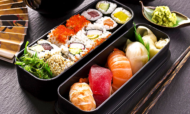 Afhalen: sushibox (20 of 56 stuks) van Poky's