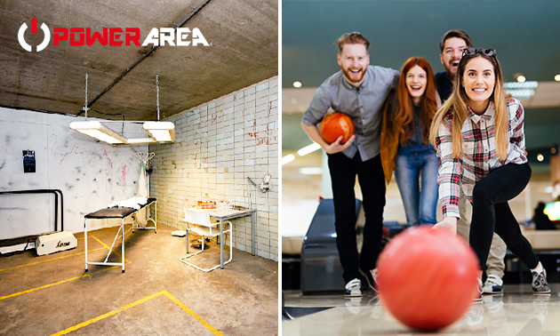 Bowling + optional Escape Room für 2-6 Personen