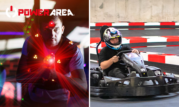 Lasergamen und/oder Kartfahren bei Powerarea