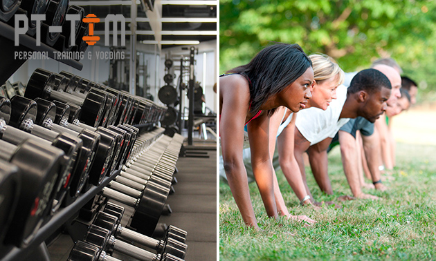 10 bootcamplessen of personal training-sessie(s)
