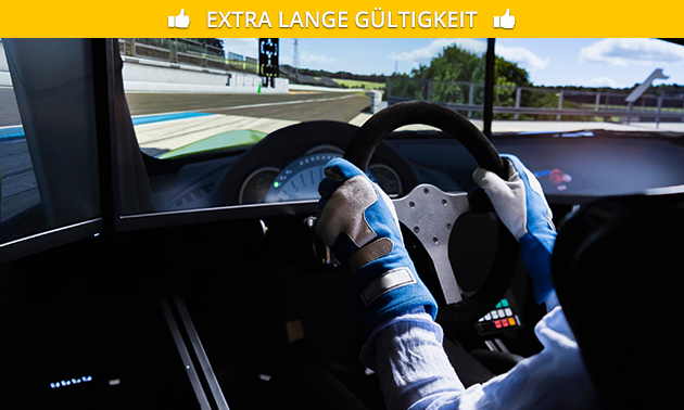 Racesimulator (1 Stunde) + Leihhandschuhe + Getränk