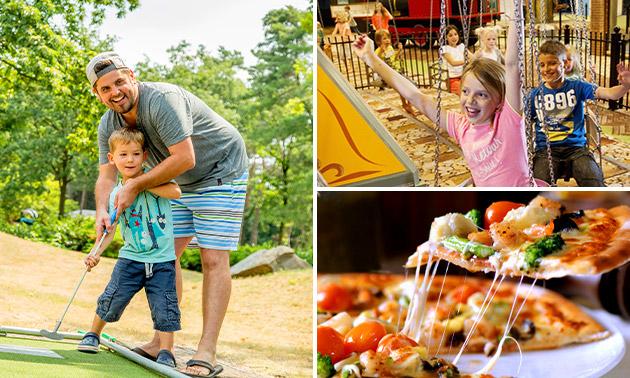 Entree Avonturenpark de Bergen + pizza + minigolf