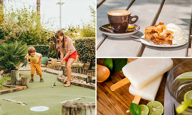 Midgetgolf + koffie/thee + gebak