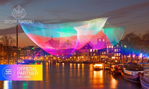 Rundfahrt (75 Min.) beim Amsterdam Lightfestival
