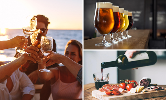 Privé-boottocht (2,5 uur) + high wine of high beer